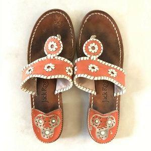 Jack Rogers Navajo Leather Stitch Flip Flop Sandal